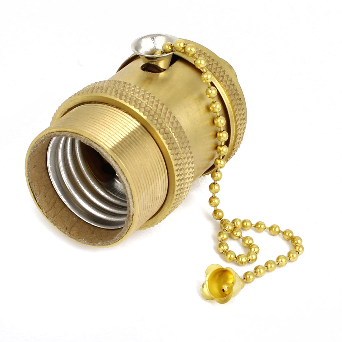 Gold Tone Brass E27 Bar DIY Droplight Bulb Base Holder AC 250V 250W