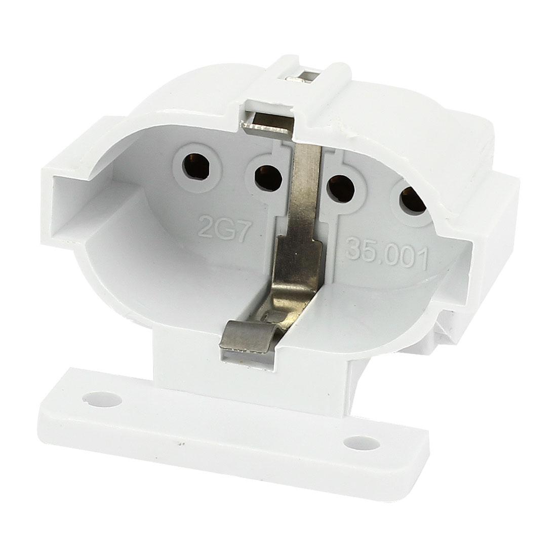 AC 250V 2A 4-pin 2G7 Socket Energy Saving Lamp Holder Adapter
