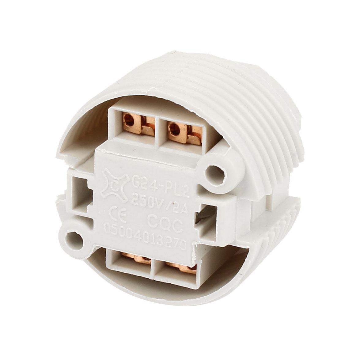 AC 250V 2A G24 Socket 4-pin Energy Saving Lamp Holder Adapter
