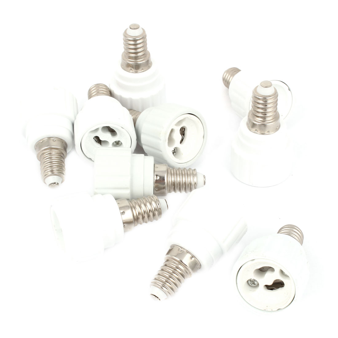 10Pcs Ceramic E14 to GU10 Base LED Halogen Light Lamp Bulb Adapter