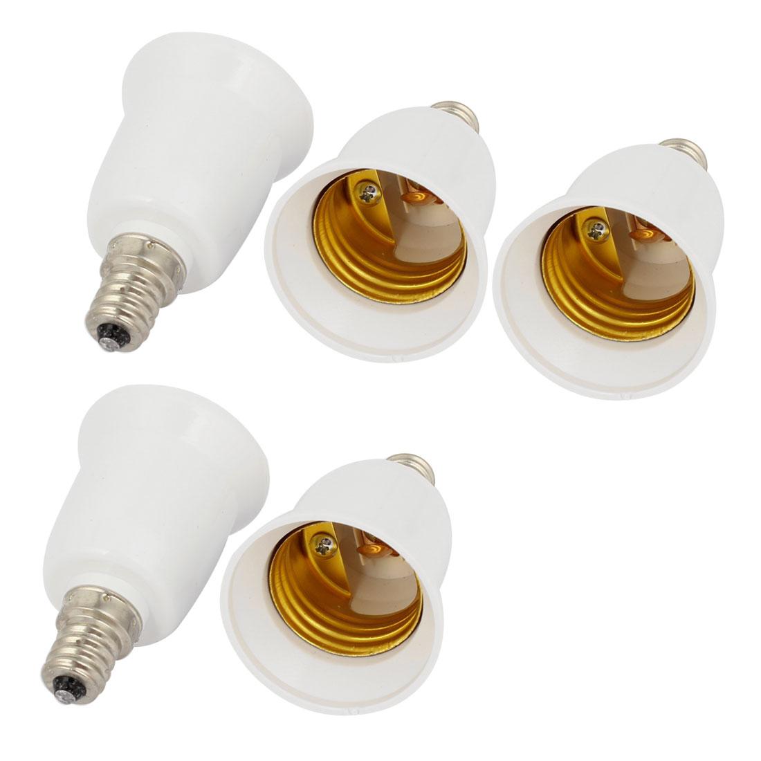 5 Pcs E12 to E27 Light Lamp Bulb Socket Adapter Holder Converter