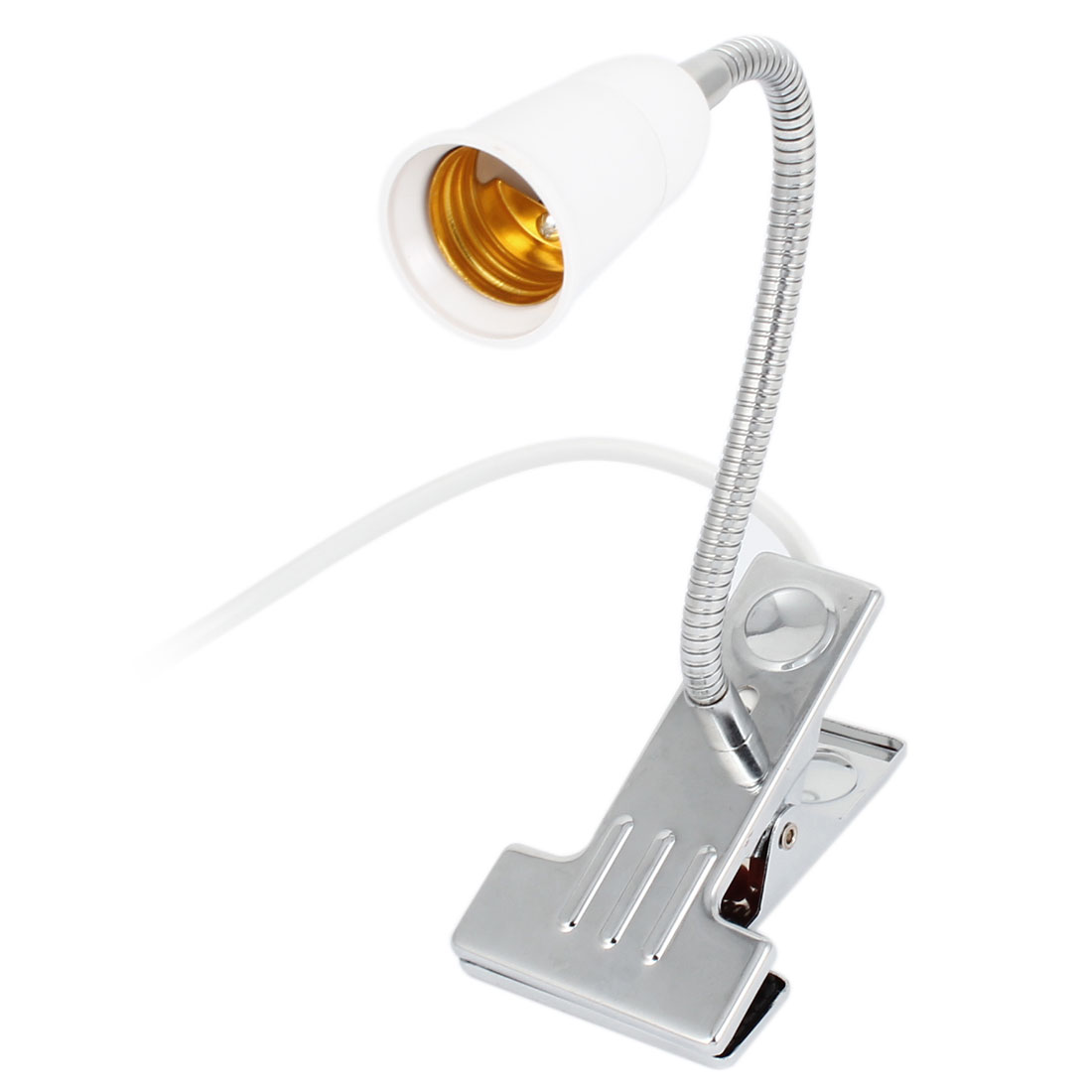 AC 110-220V US Plug Flexible Neck E27 Screw Socket Desk Lamp Light Holder 30cm