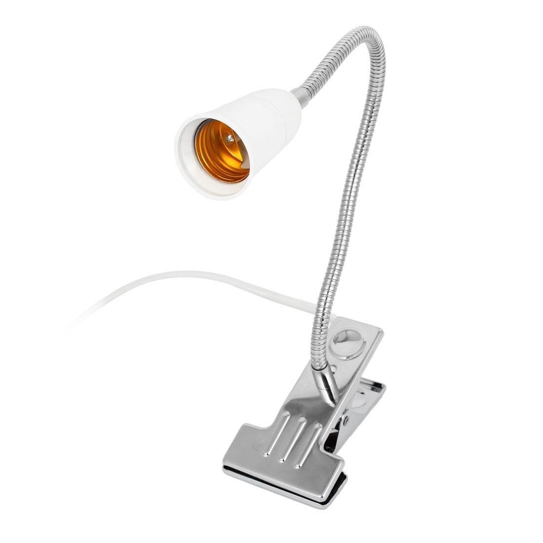 AC 110-220V US Plug Flexible Neck E27 Screw Socket Desk Lamp Light Holder 40cm