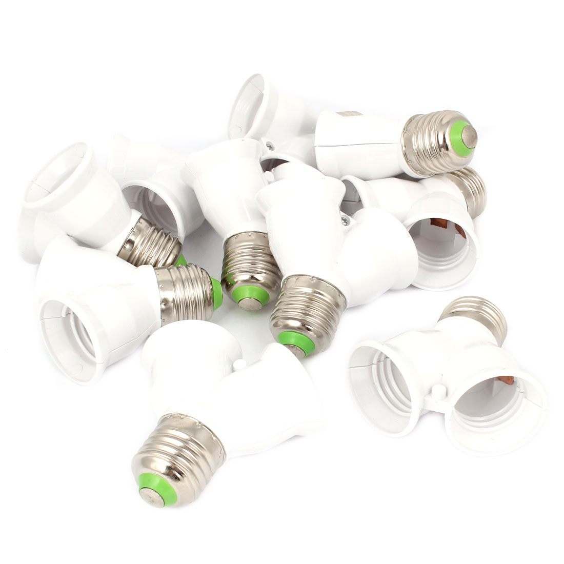 E27 to E27 2 Splitter Light Lamp Bulb Socket Convertor 10pcs
