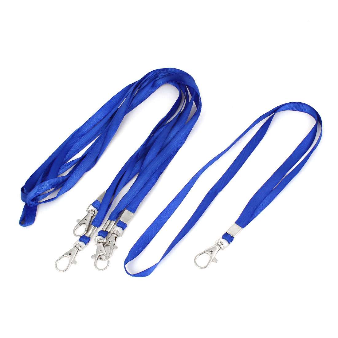 Mobile Phone Nylon String Metal Lobster Clasp Neck Cord Strap Blue 5 Pcs