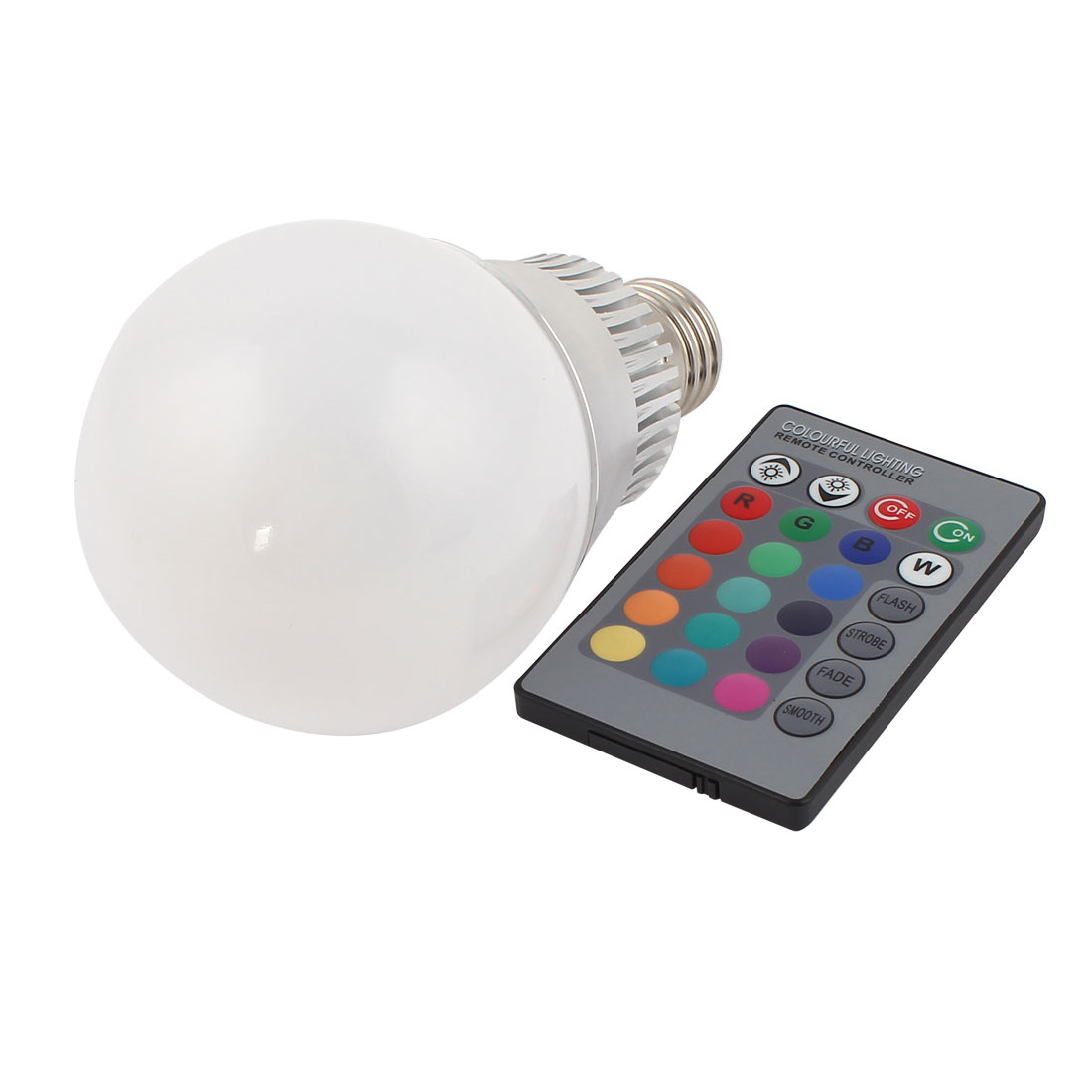 E27 16 Colors Changing LED RGB Magic Light Bulb Lamp 10W AC 85-265V w Remote Controller