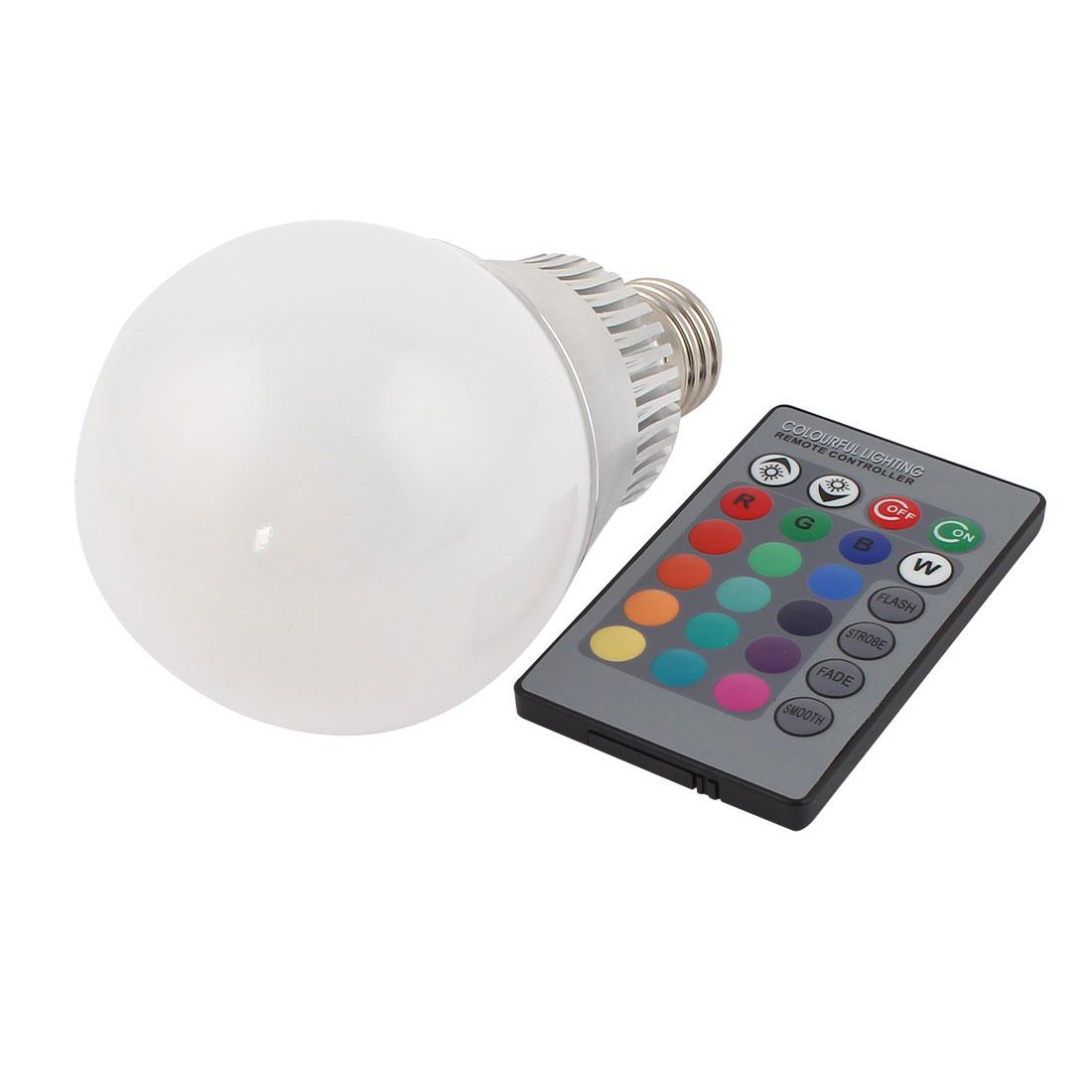E27 16 Colors Changing LED RGB Magic Light Bulb Lamp 10W AC 85-265V w Remote Controller