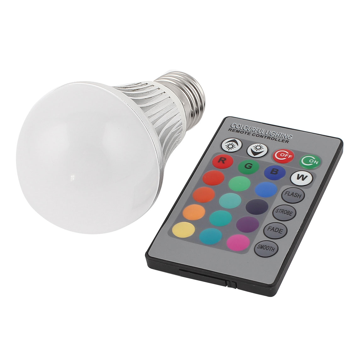 E27 16 Colors Change LED RGB Magic Light Bulb Lamp 5W AC 85-265V w Remote Controller