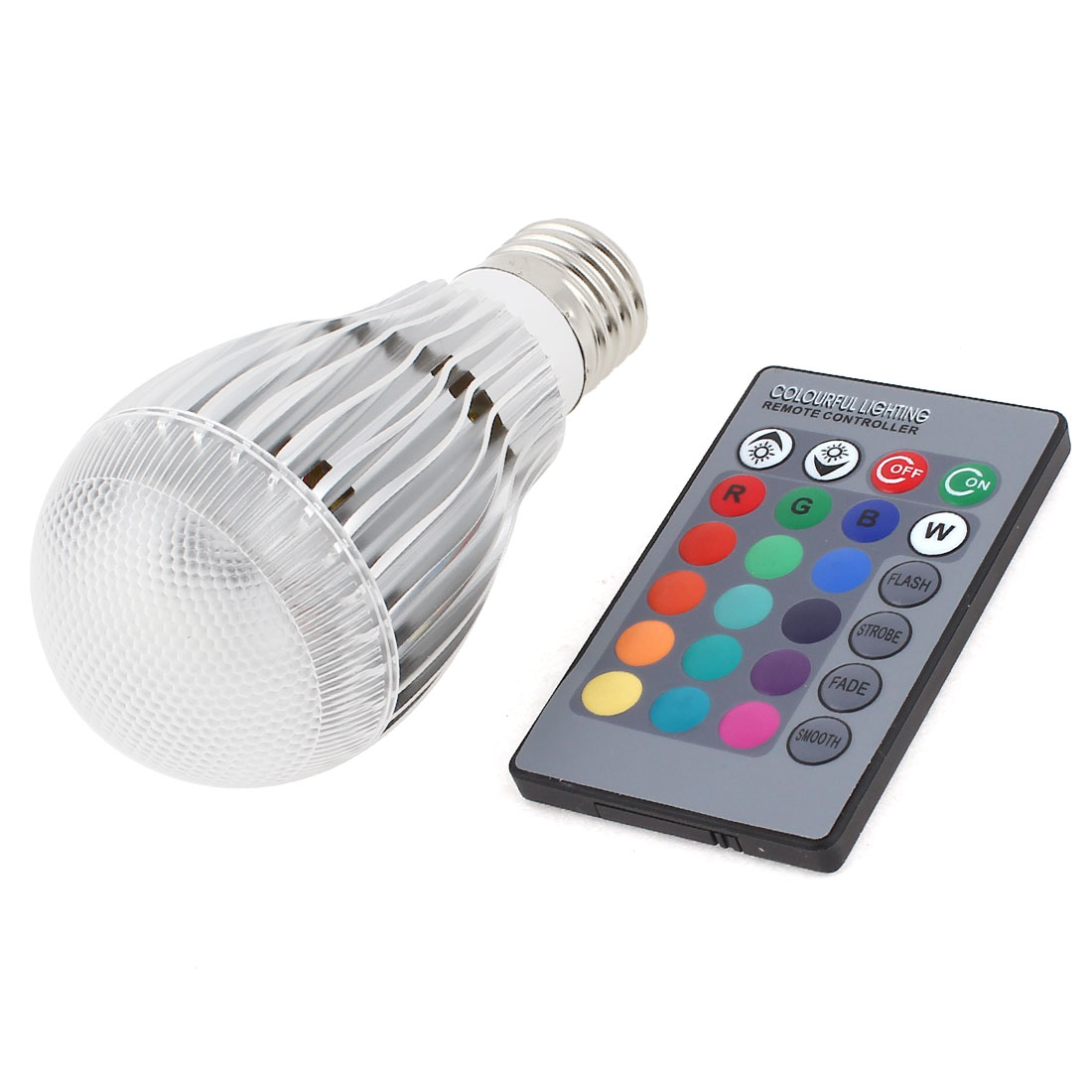 E27 16 Colors Changing LED RGB Magic Light Bulb Lamp 9W AC 85-265V w Remote Controller