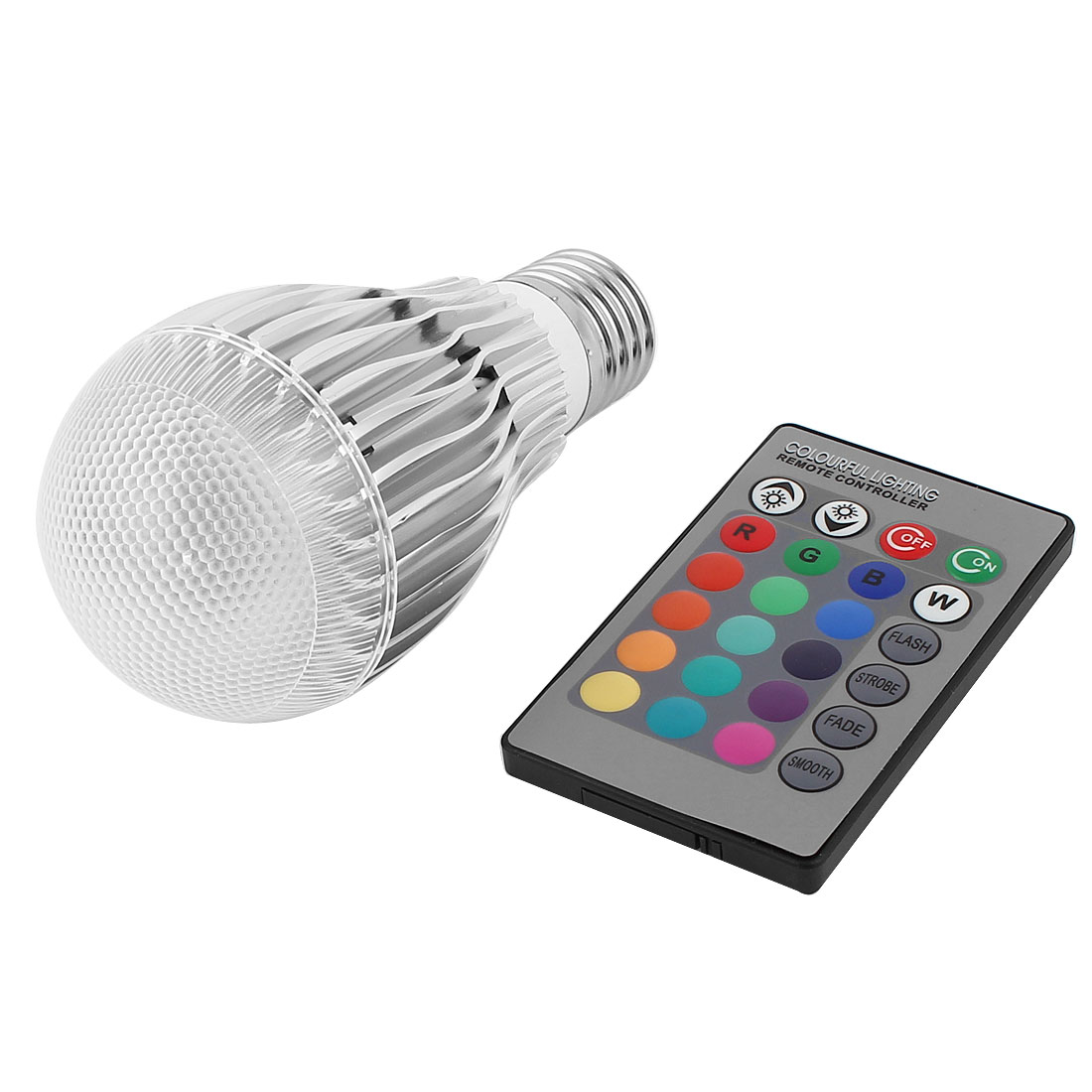 E27 16 Colors Changing LED RGB Magic Light Bulb Lamp 5W AC 85-265V w Remote Controller