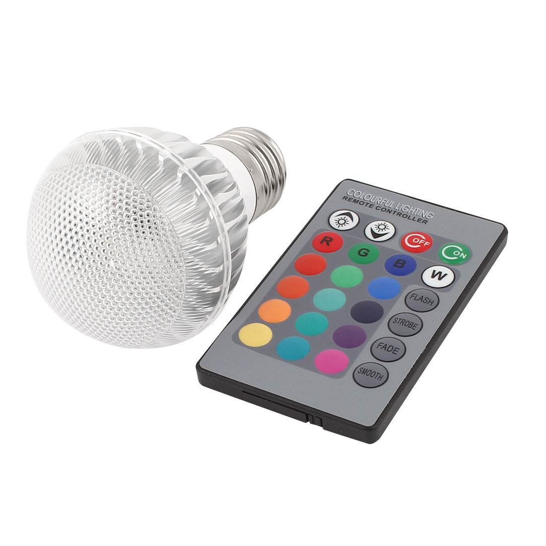 E27 16 Colors Changing Magic Light RGB LED Lamp Bulb 5W w Remote Controller