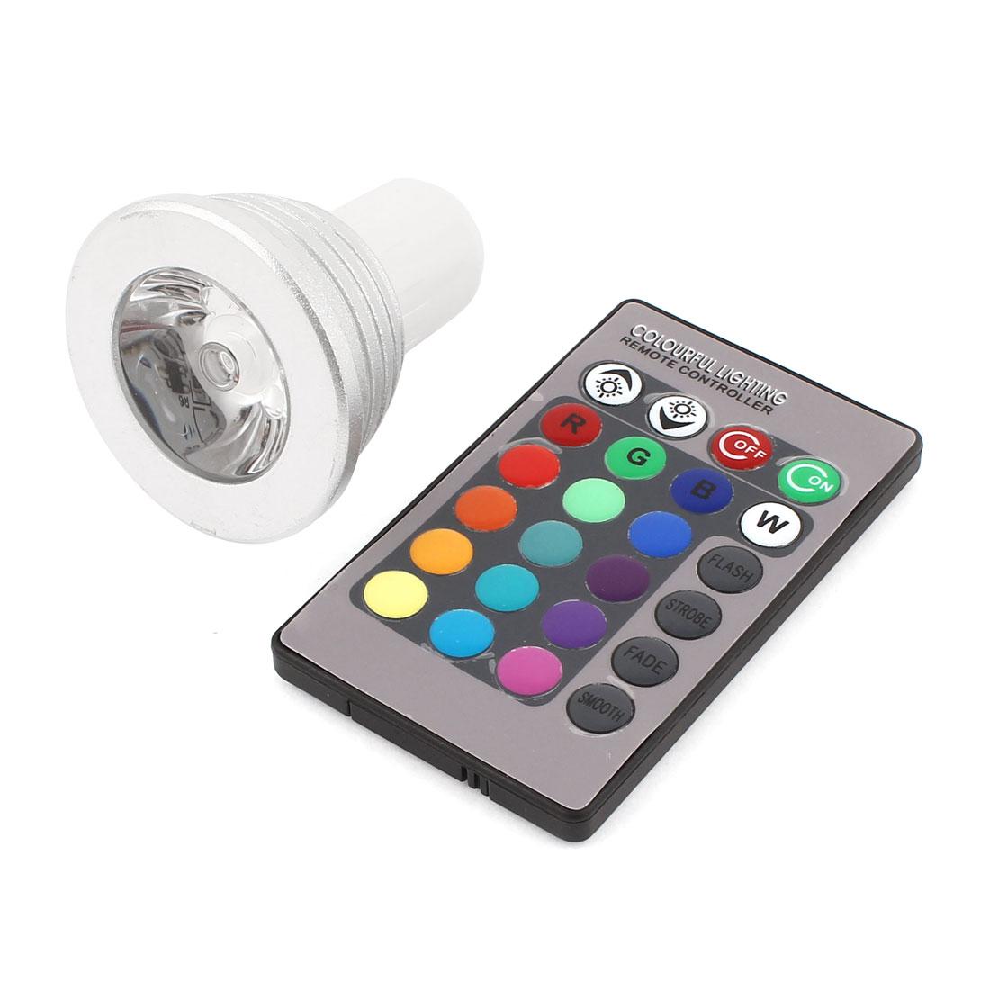 G5.3 16 Colors Changing Magic Light RGB LED Lamp Bulb 3W w Remote Control