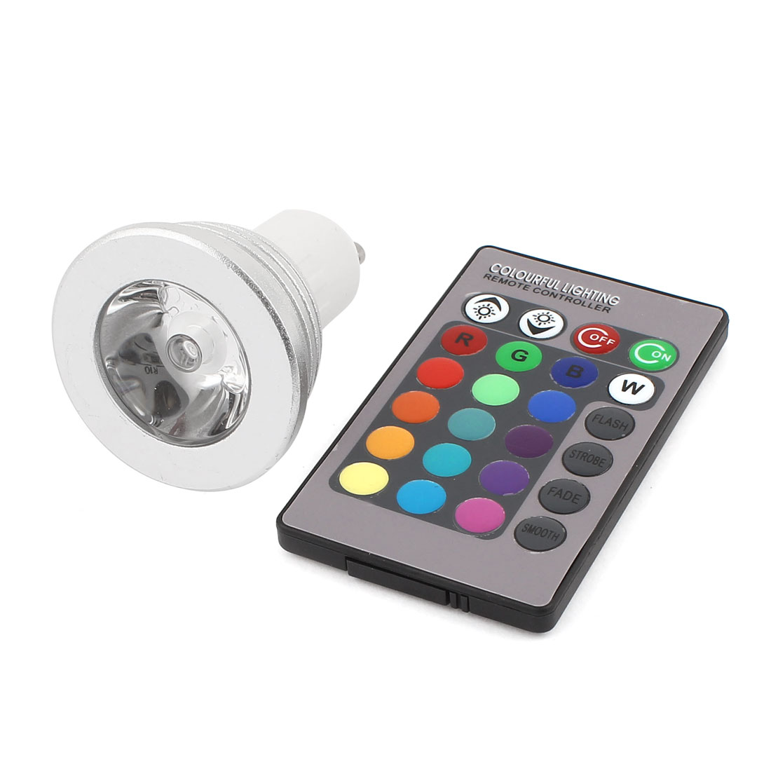 GU10 16 Colors Change LED RGB Magic Light Bulb Lamp 3W AC 85-265V w Remote Controller