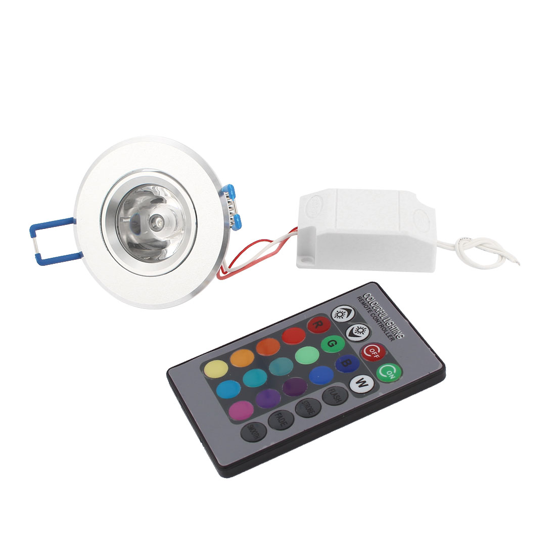 RGB Ceiling LED Down Light Recessed Spotlight Lamp Bulb 3w w Remote Controller