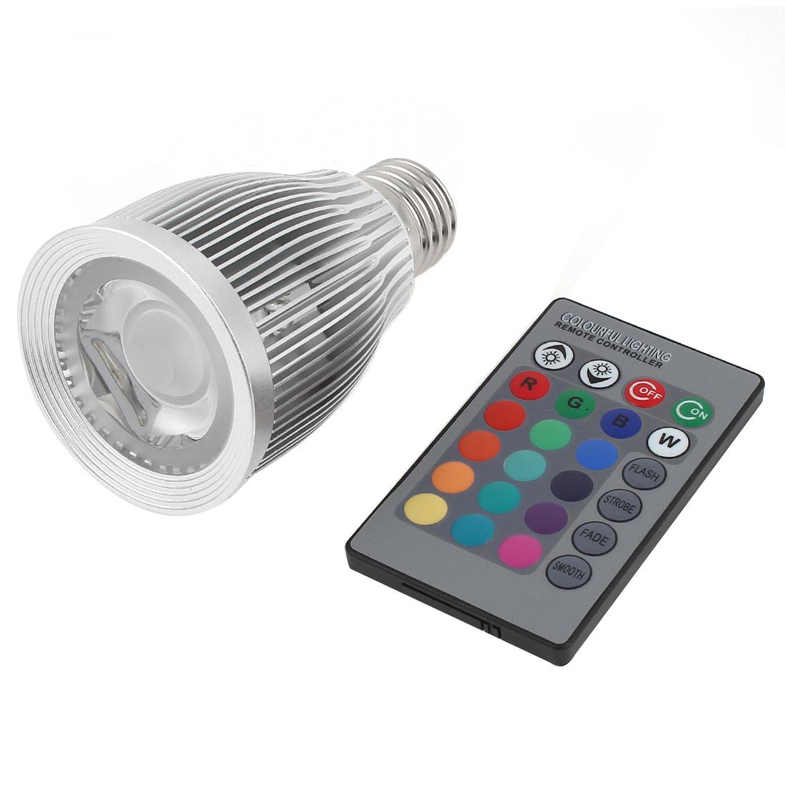 E27 16 Colors Change LED RGB Magic Light Bulb Lamp 7W AC 85-265V w Remote Controller