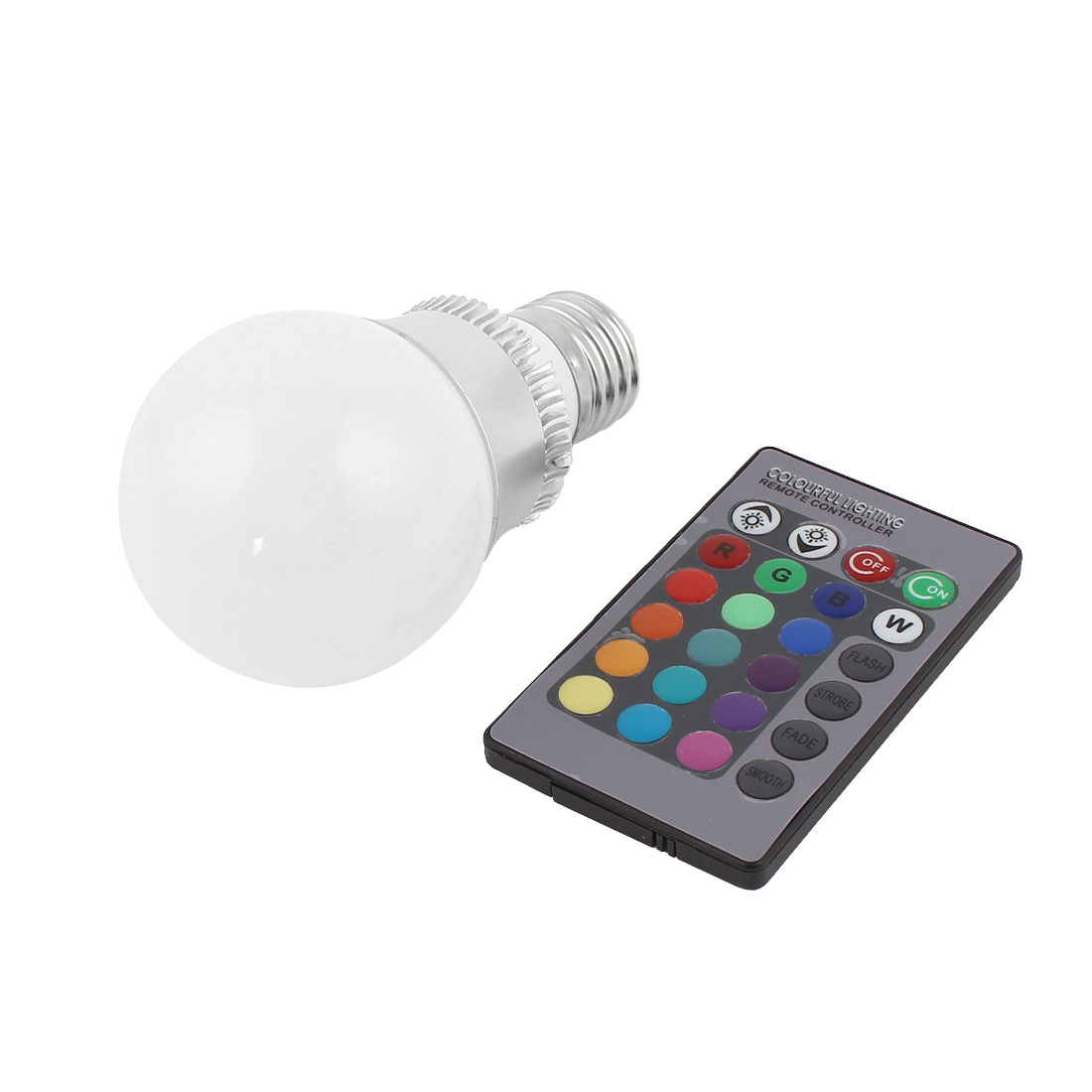 E27 16 Colors Changing LED RGB Magic Light Bulb Lamp 3W AC 85-265V w Remote Controller