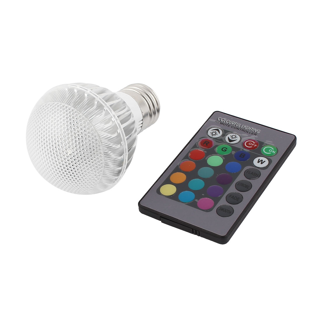 E27 16 Colors Changing Light RGB LED Lamp Bulb 5W AC 85-260V w Remote Controller