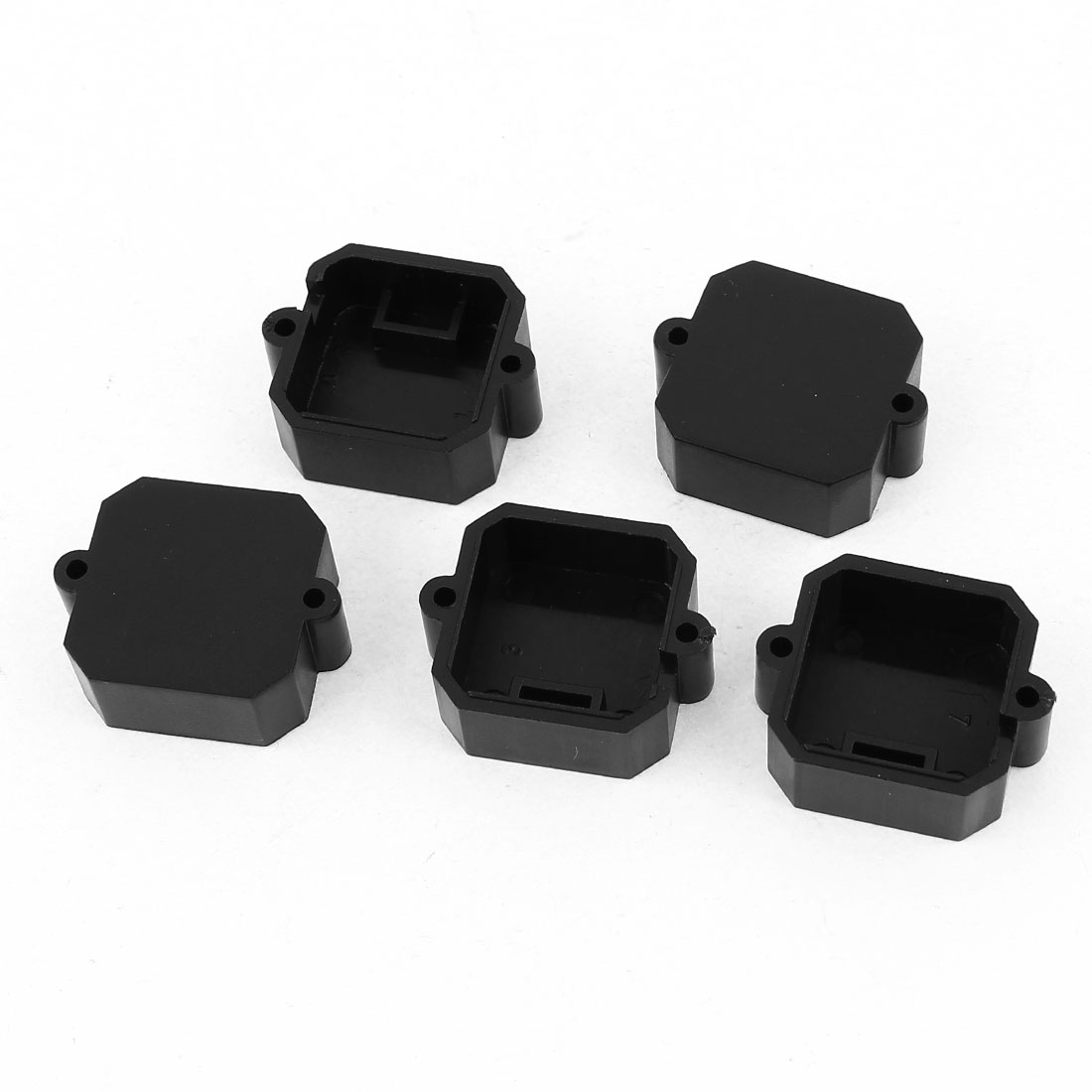 5 Pcs Black Plastic HD53 CCTV Camera Lens Conver 22mm Hole Spacing