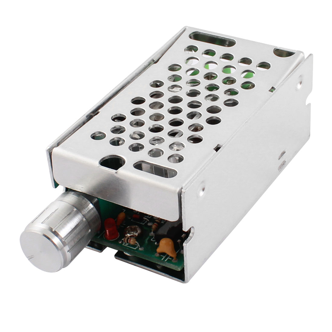 DC12-40V 8A 400W Rectangle Aluminum Case Rotary Adjustable Potentiometer Switch PWM Motor Speed Controller Governor
