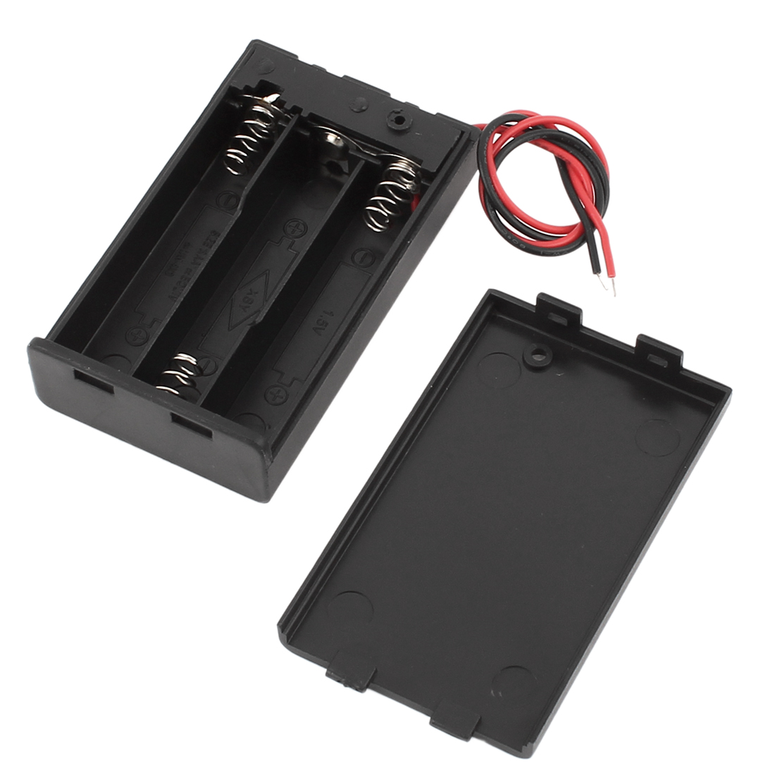 ON/OFF Switch Wire Leads Covered Battery Case for 3x1.5V AAA Batteries