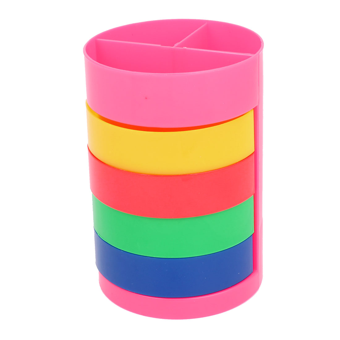 Multicolor Four Layer Multifunction Cylinder Shape Holder Rotatable Pen Container