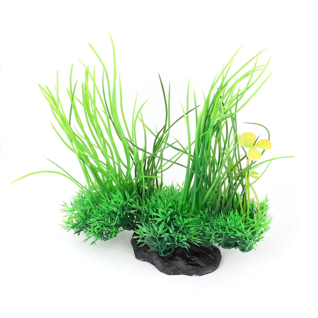 "Aquarium Flower Decor Simulation Plastic Aquatic Plant Green 7.5"" High 2 Pcs"