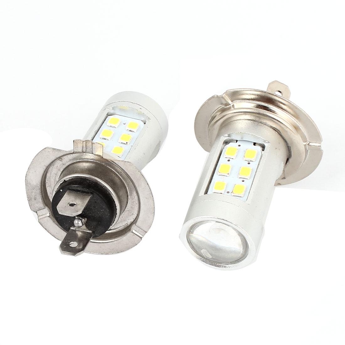 2 Pcs H7 White 1210 21 SMD LED DRL Foglight Lamp Light DC 12V for Car