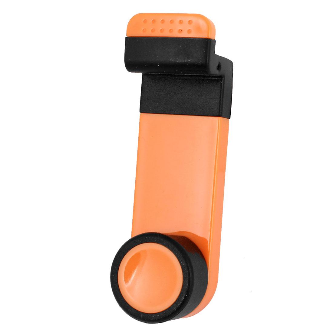 Car Air Vents Mount Mobile Phone Swivel Adjustable Stand Holder Orange Black