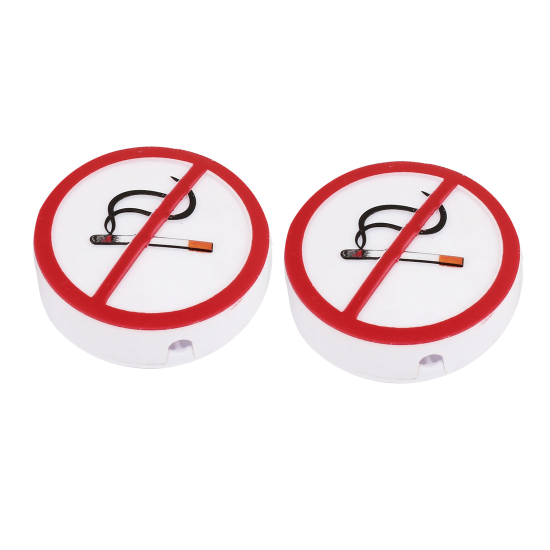 2 Pcs Car Air Vent Adhesive Tape No Smoking Sign Design Fragrance Freshener