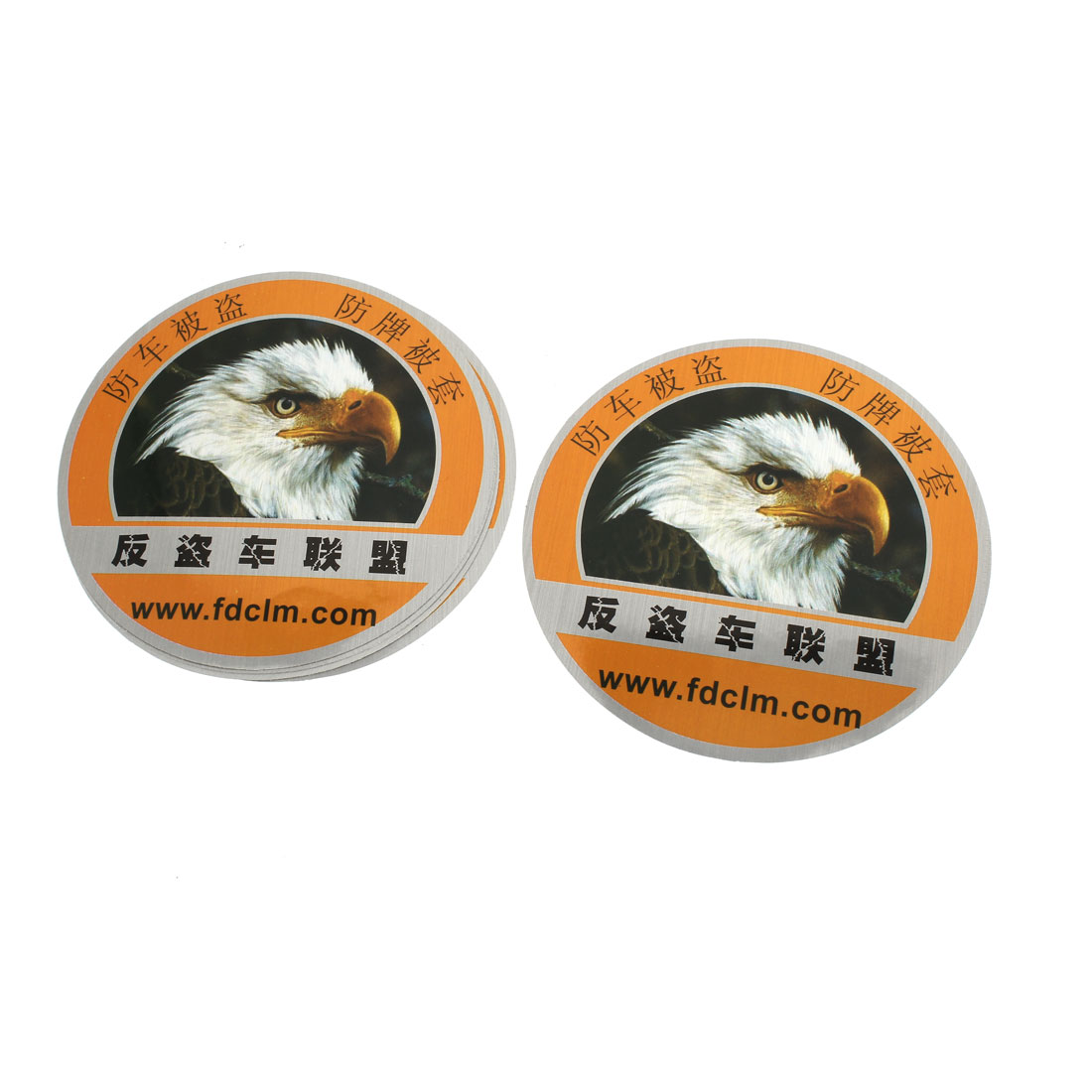 5 Pcs Eagle Pattern Design Round Shaped Reflective Sticker for Auto Car