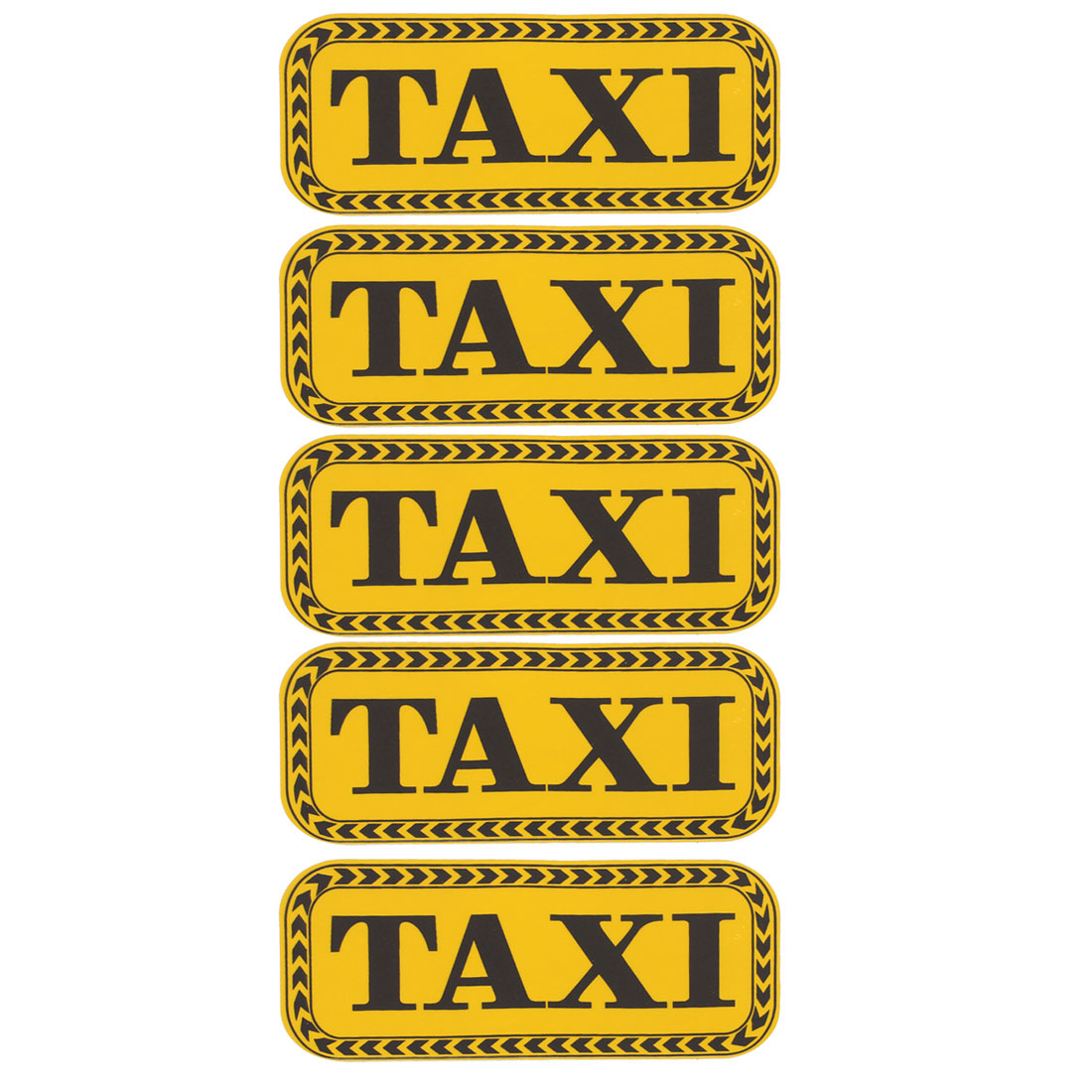 5 Pcs Reflective Adhesive Yellow Black TAXI Letters Style Sticker for Car