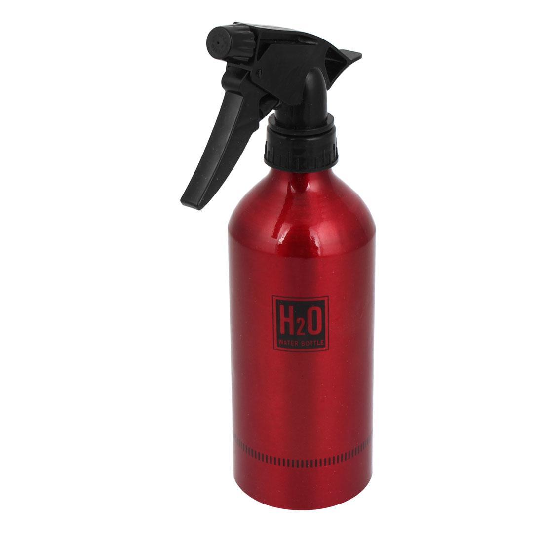 Car Washing Black Red Aluminium Plastic Head Trigger Bottle Water Sprayer 500ml
