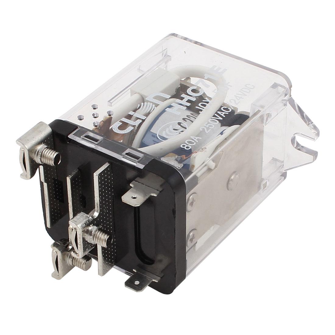 JQX-59F AC 220V Coil Power Relay 5 Terminals SPDT AC250V/DC24V 80A