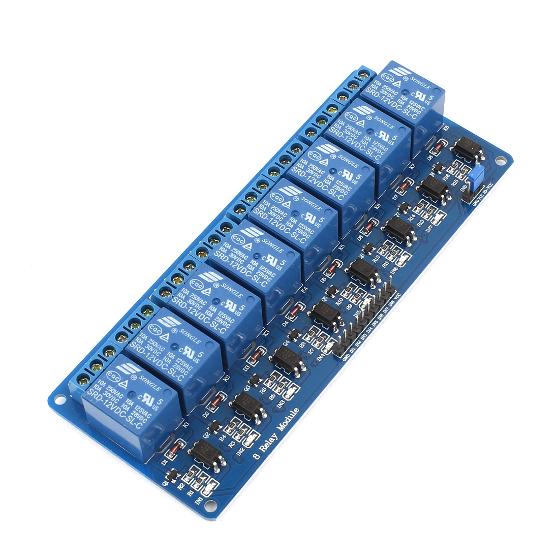 LED Indicator Light 8-CH Relay Module DC12V for AVR PIC DSP ARM MSP430