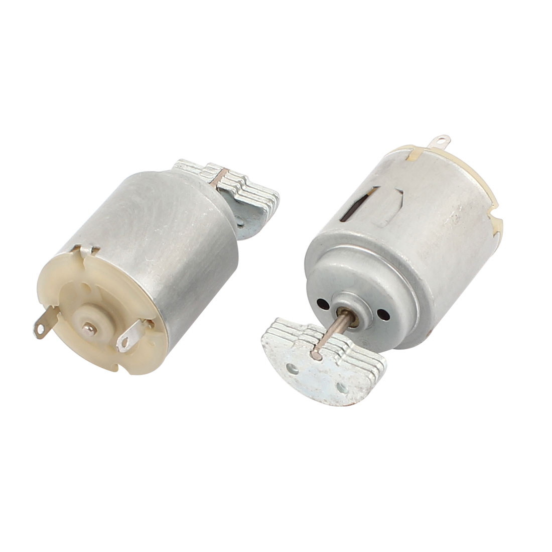 2PCS 280 DC 12V 2750RPM Silver Tone Micro Brush Vibration Motor