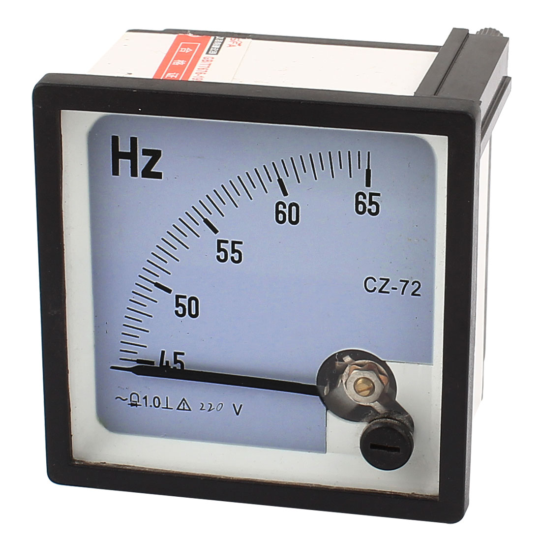 45-65Hz AC 220V Frequency Tester Analog Panel Meter 1.0 Accuracy Class