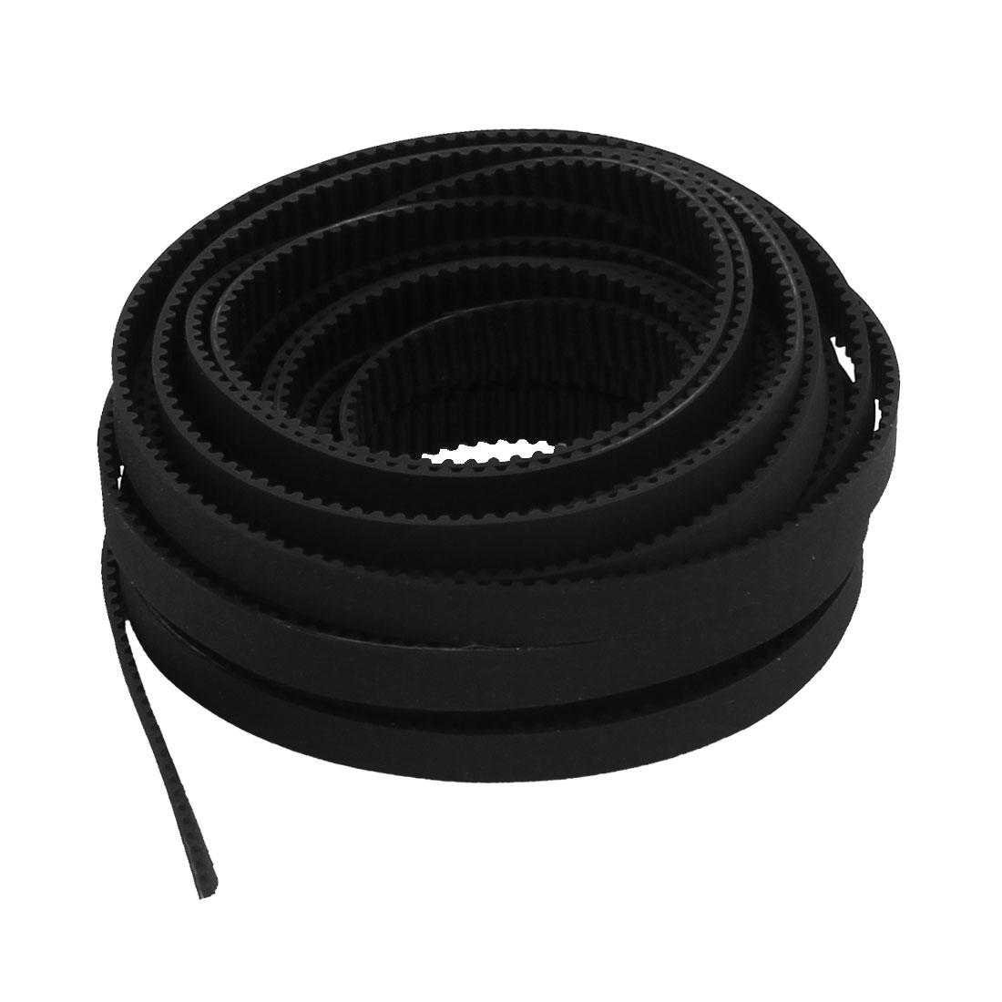 2GT 6mm Wide 2mm Pitch Open Loop Rubber Timing Belt Black 5M for 3D Printer