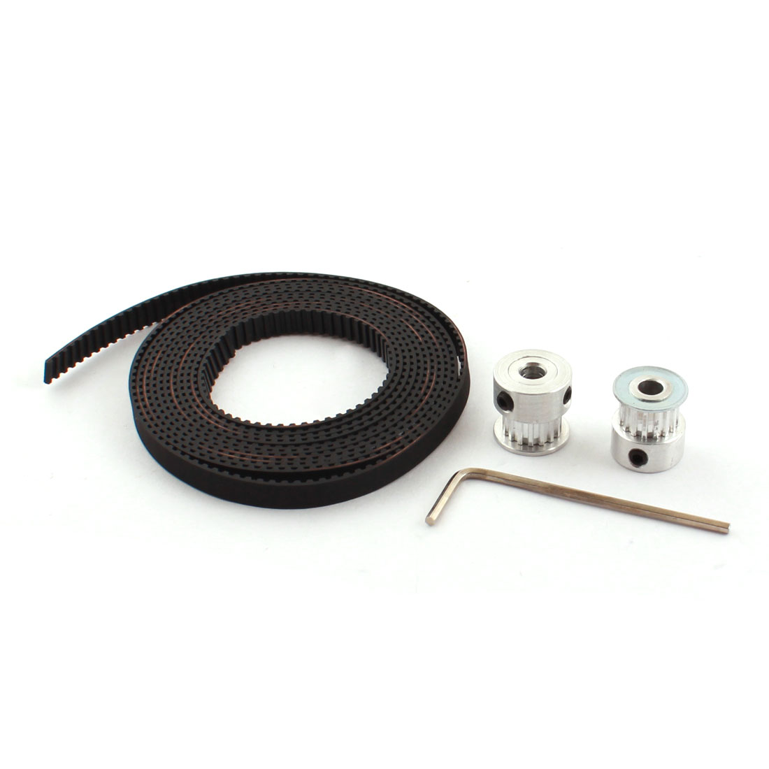 T2.5 16T 5mm Bore Timing Pulley Open End Belt 2M Set for RepRap 3D Printer