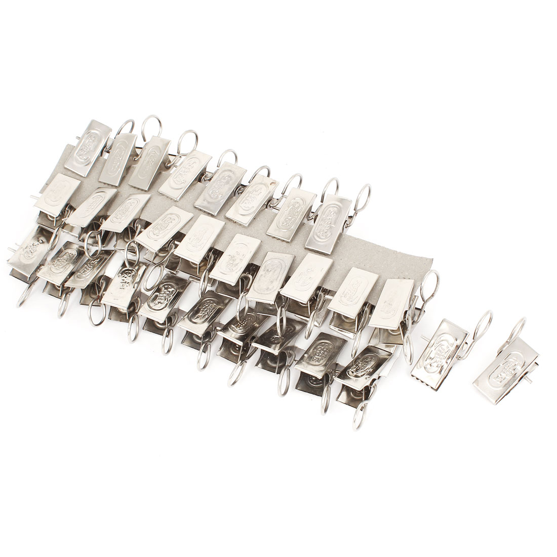 40 Pcs Silver Tone Metallic Spring Loaded Curtain Drapery Alligator Clips Hooks