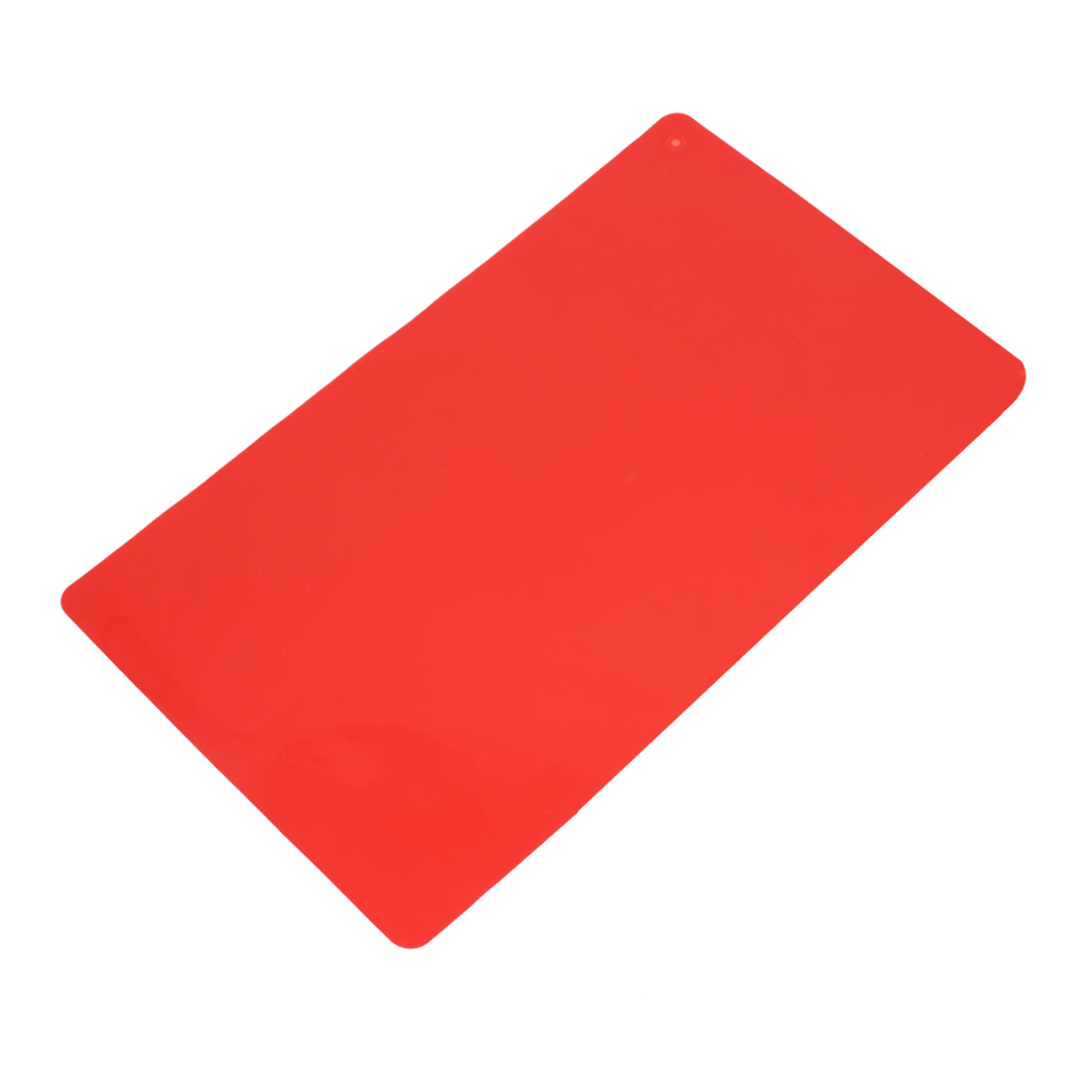 Rectangle Shape Silicone Heat Resistant Cup Pan Table Mat Pad Coaster Red