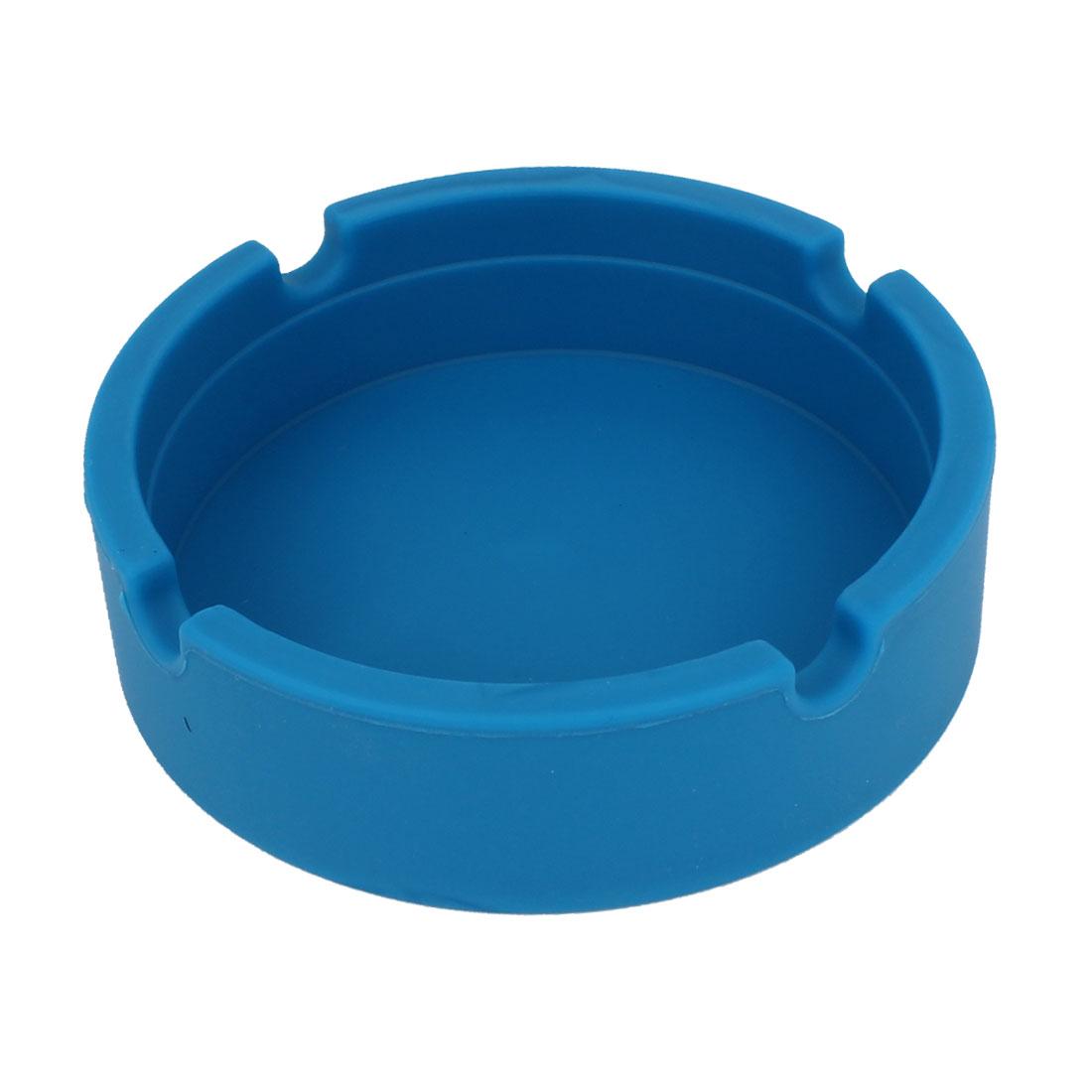 Blue Silicone Round Shape Wine Beverage Bottle Cup Coaster Holder