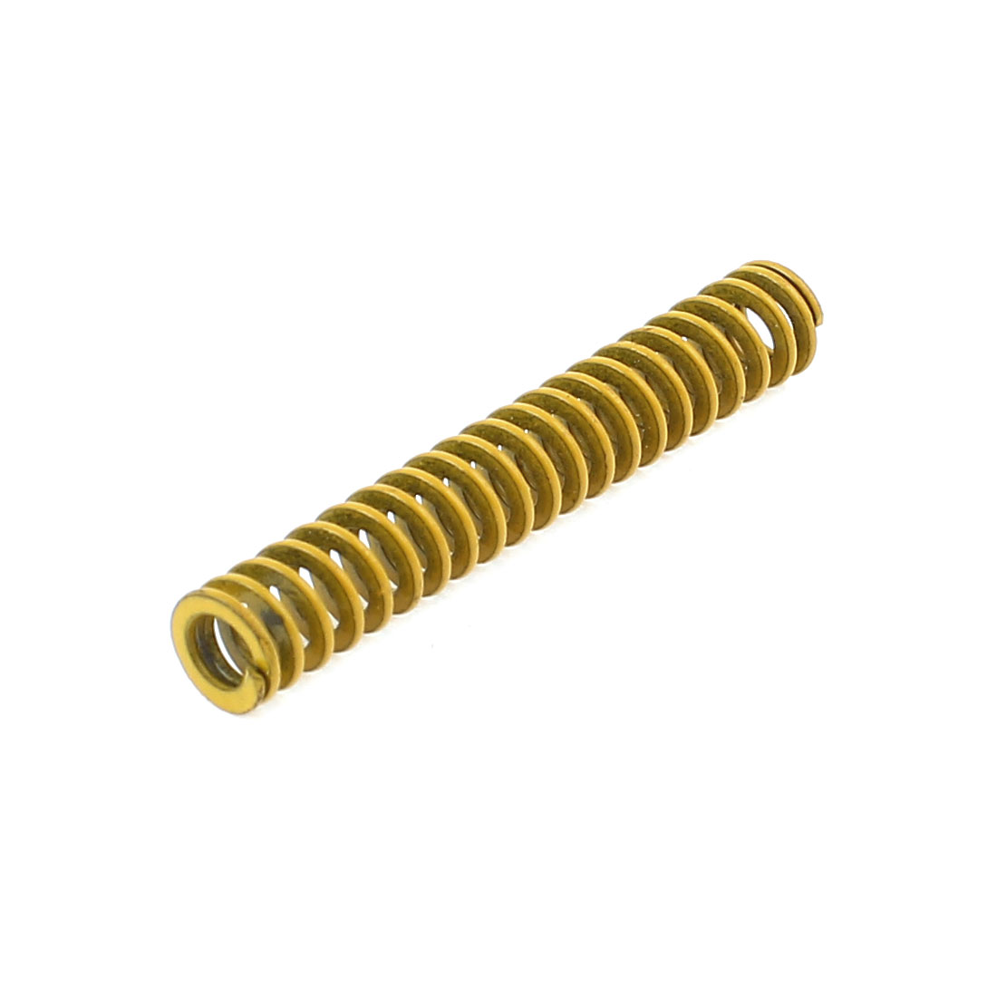 6mm x 3mm x 35mm Chromium Alloy Steel Compression Die Spring Yellow