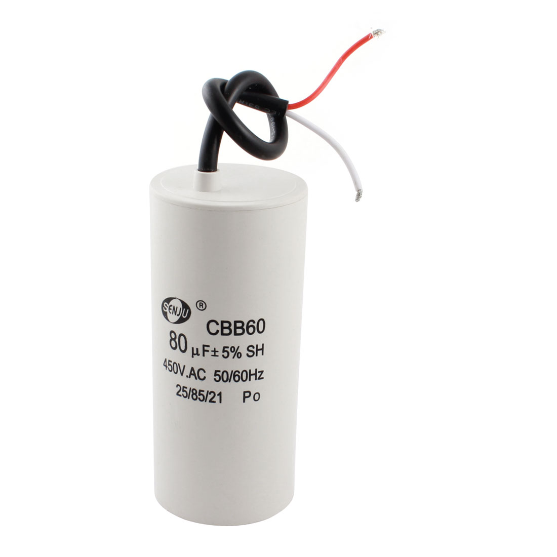 AC 450V 50/60Hz 80uF Polypropylene Film Capacitor for Washing Machine