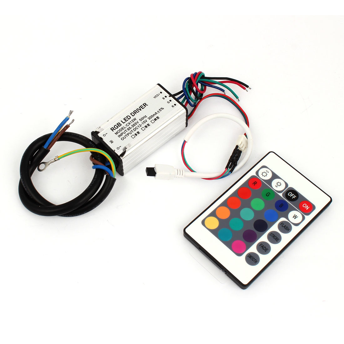AC 85-265V DC 12-15V Waterproof 12W LED Driver Power Supply Converter w Remote
