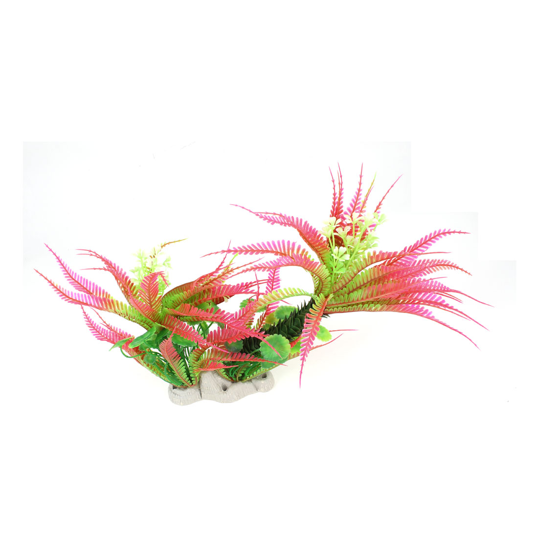 "Fish Tank Decoration 11.8"" Height Coconut Tree Underwater Aquarium Plant Grass Green Pink"