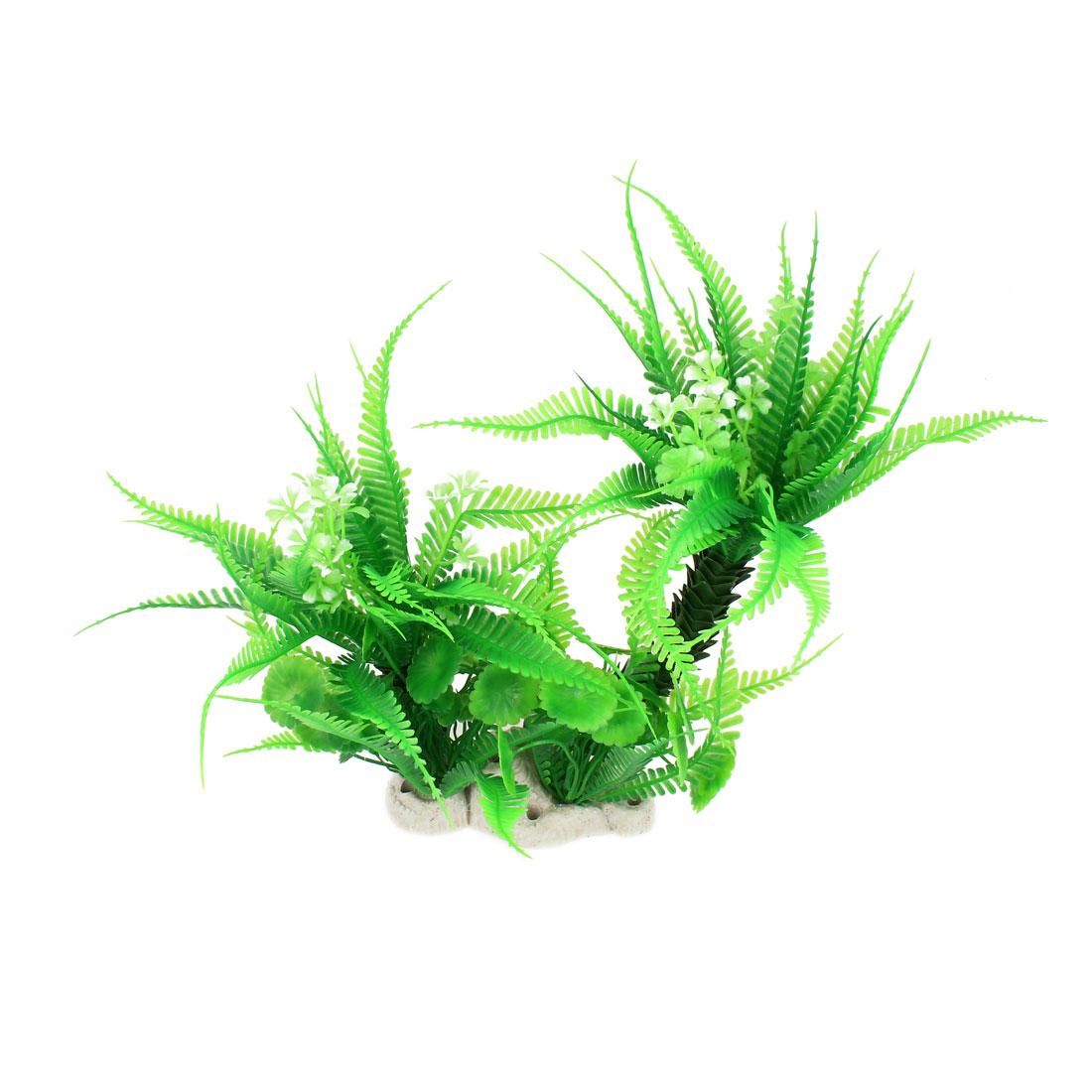 "Fish Tank Decoration 11.8"" Height Coconut Tree Underwater Aquarium Plant Grass Green"