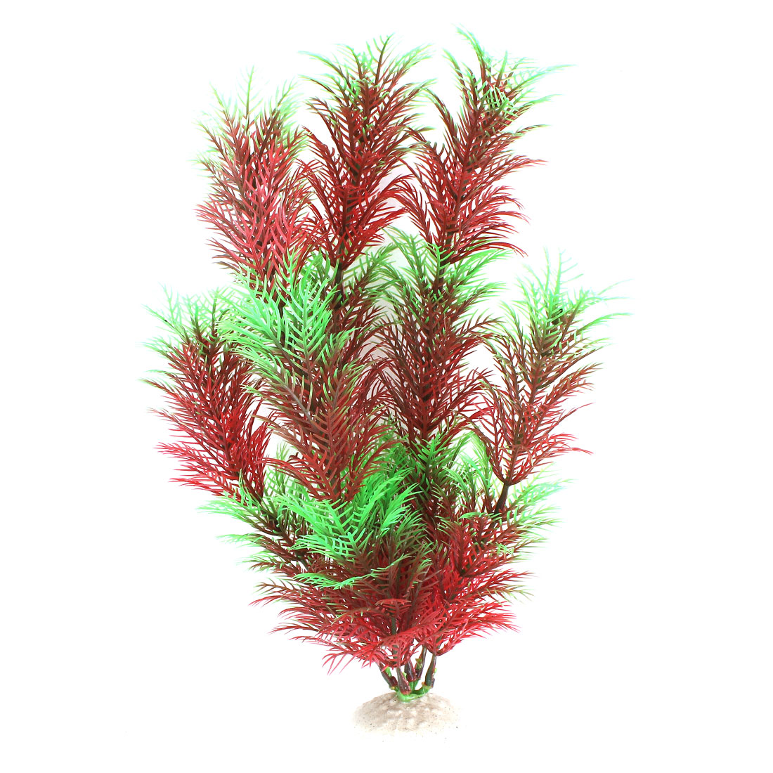 "Red Green 12.2"" Height Fish Tank Plastic Simulation Aquatic Plant Ornament Decor"