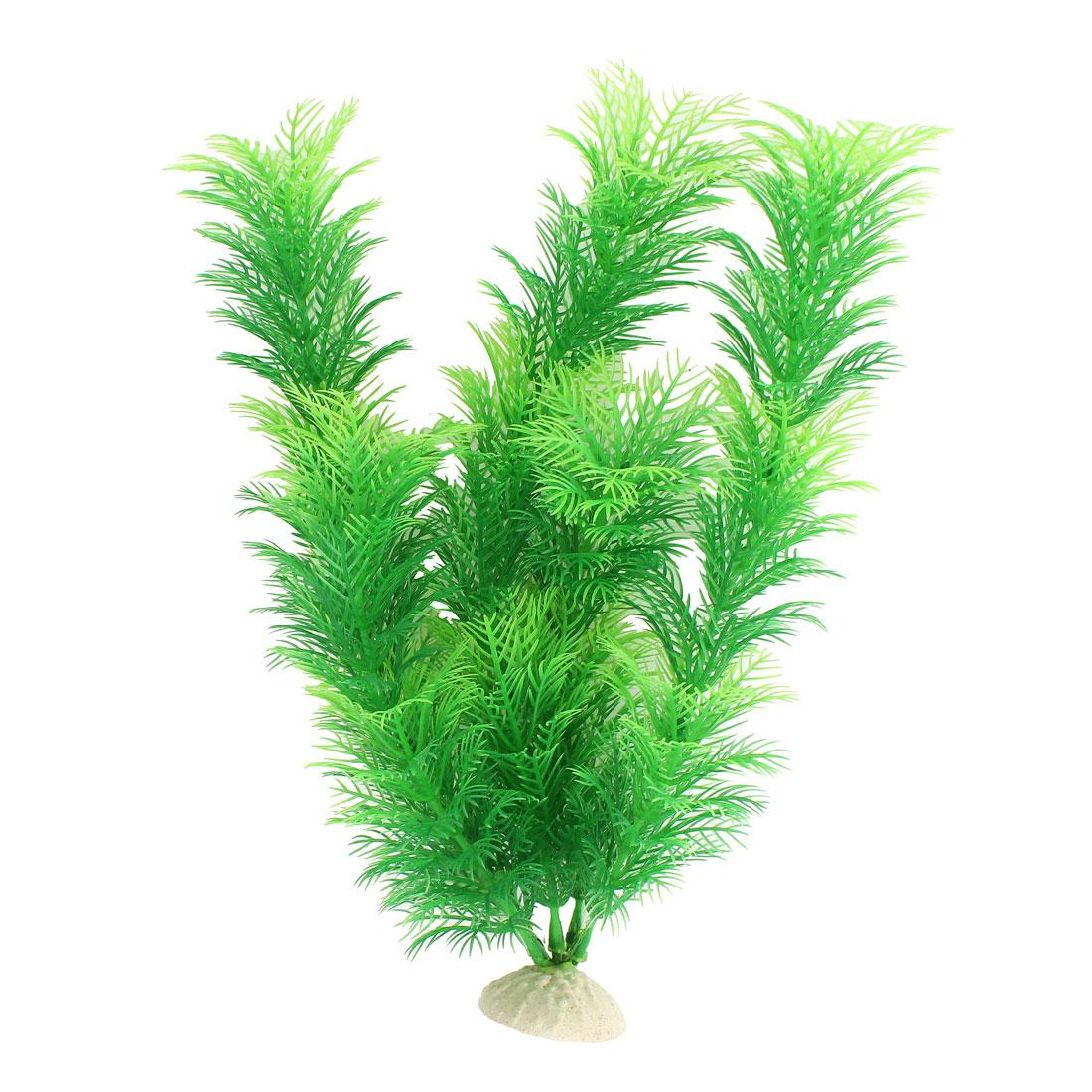 "Green 12.2"" Height Fish Tank Plastic Simulation Aquatic Plant Ornament Decor"