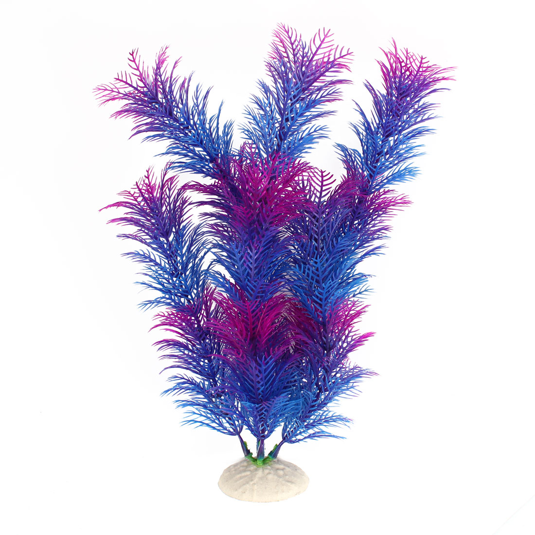 "Fuchsia Blue 12.2"" Height Fish Tank Plastic Simulation Aquatic Plant Ornament Decor"
