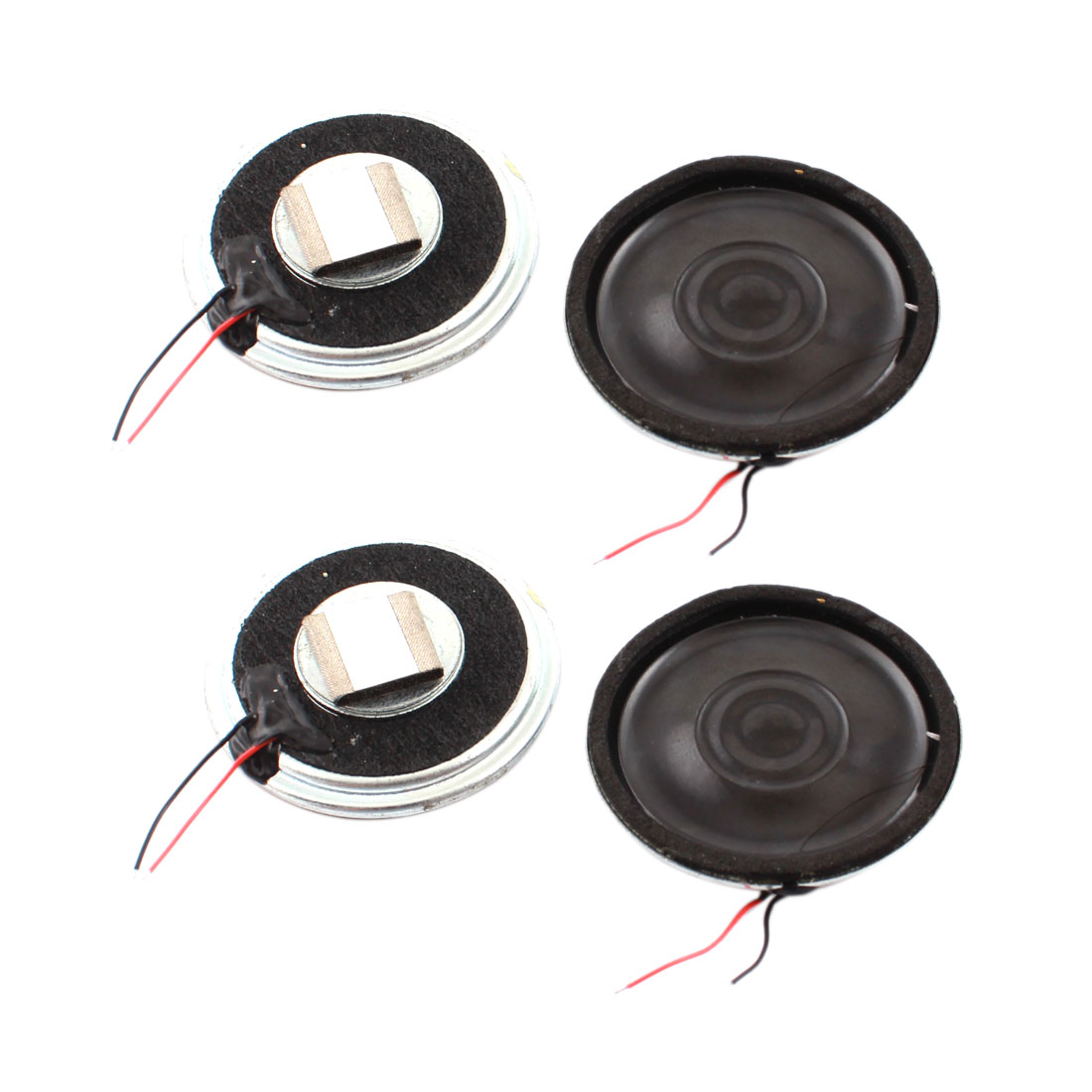 4 Pcs 1W 8 Ohm 3.6cm Dia Plastic Housing Round Cellphone Magnet Speaker Loudspeaker